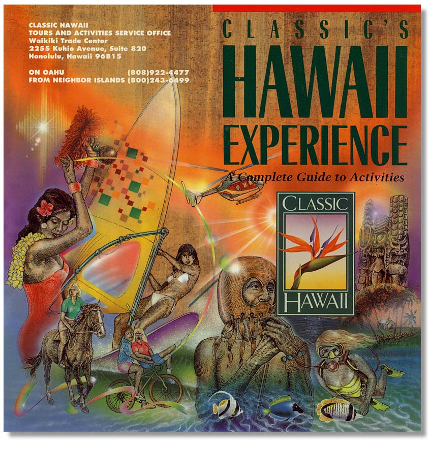 Classic Hawaii Brochure, 噴槍線畫 Airbrush Line Art Painting